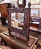 Victorian carved oak square framed swing mirror,