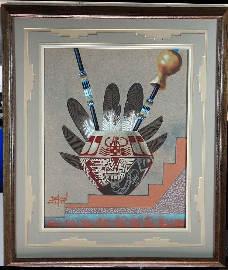 (NAVAHO SAND PAINTING),( American 1931-2010)