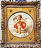 ARTIST UNKNOWN  ( Italian 18th c. ?  )(Angel-Cherub with Stringed Instrument)