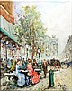 BLANCHARD,  ANTOINE,  SCHOOL OF,  SIGNED D'AUGELO,  S. (?)  ( Italian 20th C.  ) (Paris Scene)