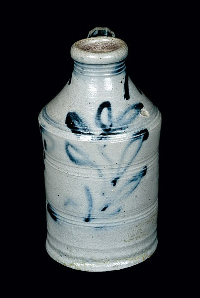 Rare and Important Stoneware Jug Dated 1796, possibly Cheesequake, NJ