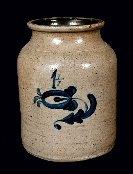 New Jersey Stoneware Crock attrib. VAN SCHOICK & DUNN, Middletown Point, NJ