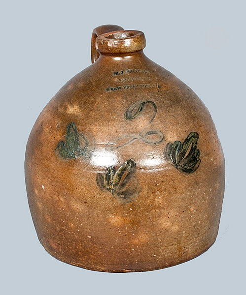 A. J. BUTTLER / NEW BRUNSWICK, NJ Stoneware Jug