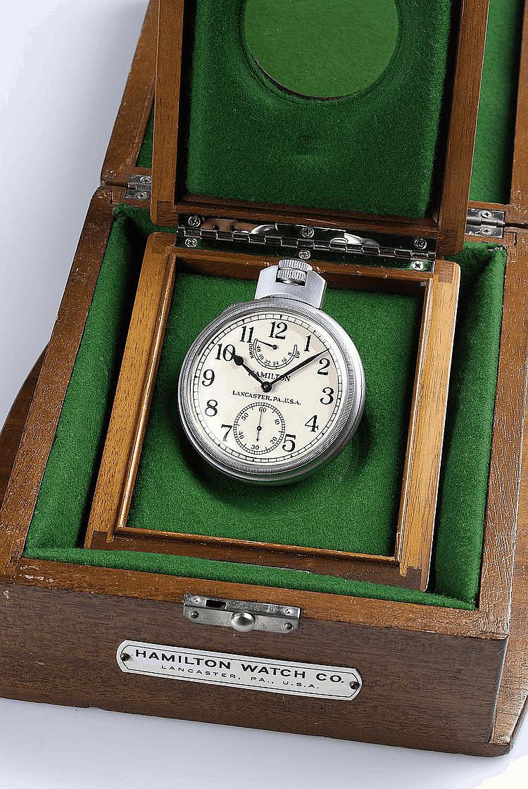 An attractive lot of nine nautical instruments, including ship's chronometers, deck watches and a sextant