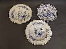 A pair of 19th Century English blue and white