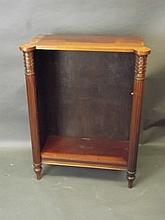 A Regency style carved mahogany open bookcase