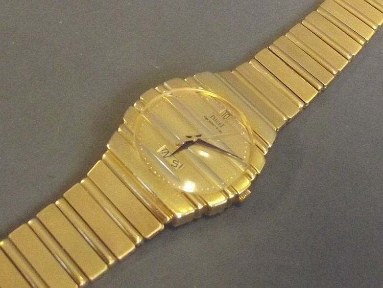 An 18ct gold gentleman's Plaget Polo wristwatch