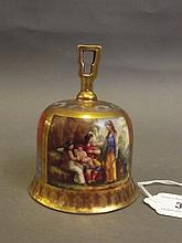A fine 19th Century Vienna porcelain table bell