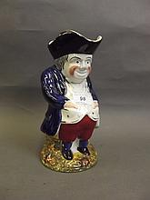 A 19th Century Staffordshire pottery Toby jug