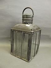 A large mid 19th Century copper and glass lantern,