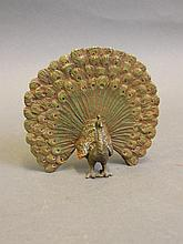 A Vienna style cold painted bronze figure of a