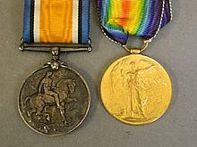A WWI medal, and a George V war medal belonging to