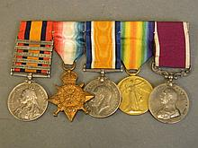 A collection of medals to include South Africa