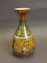 A Chinese bottle shaped porcelain vase decorated