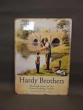 A metal advertising sign for the Hardy Bros, 28