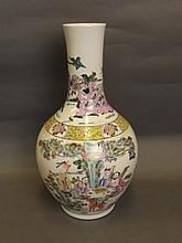 A large Chinese porcelain vase with polychrome
