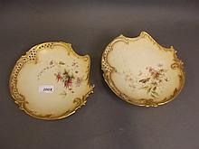 A 19th Century Royal Worcester shaped dish painted