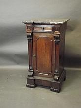 A 19th Century carved rosewood side/bedside