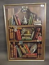 Deborah Jones, oil on canvas, 'Books', signed,