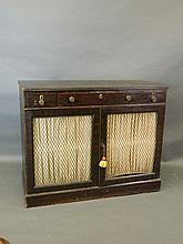 A 19th Century faux rosewood side cabinet with