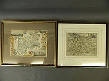 A 19th Century hand coloured map of Middlesex and