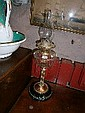 Victorian Glass Reservoir Oil Lamp