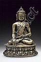 A bronze figure of Budhha Shakyamuni