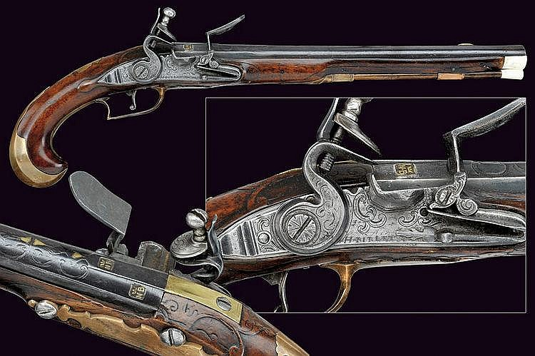 A flintlock pistol by Pirlet