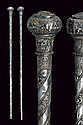 A scarce pair of ceremonial maces
