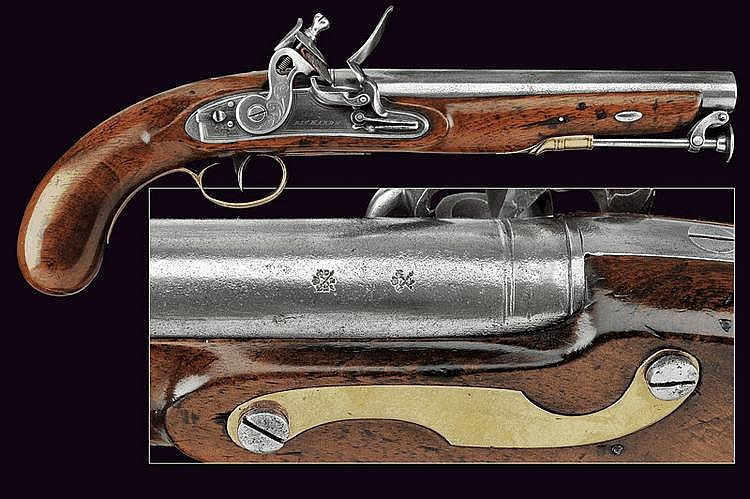 A flintlock pistol by Richards