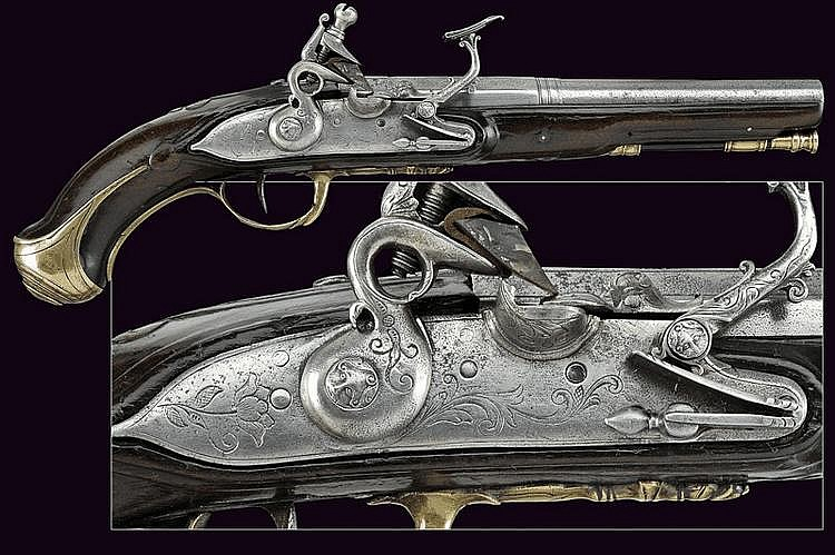 A flintlock pistol by P. Fiorenti