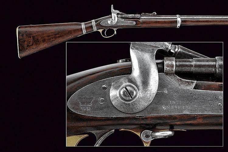 An Enfield breech-loading rifle