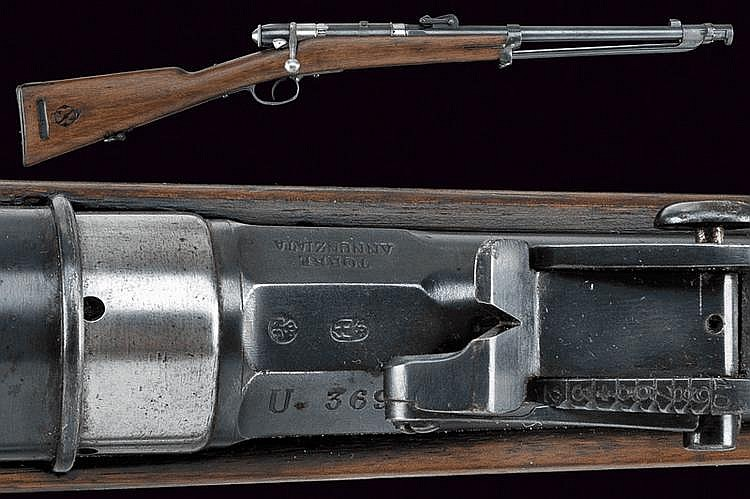 A 1870 Cavalry Vetterli rifle with bayonet