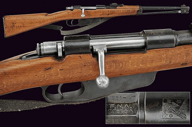 A Balilla breech-loading gun with bayonet