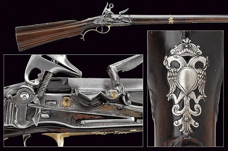 A flintlock gun