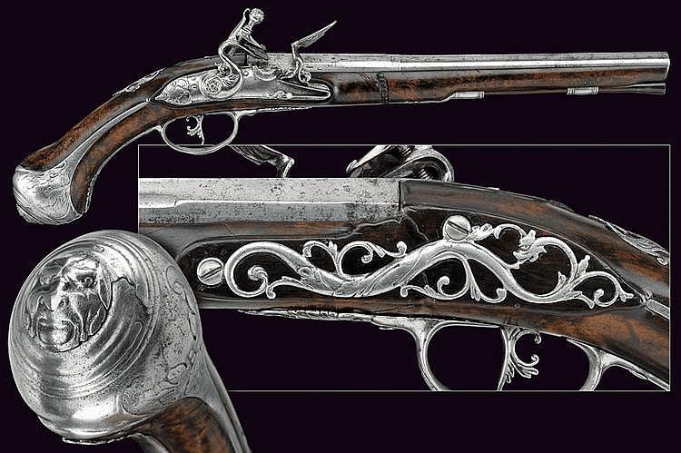 A fine flintlock pistol