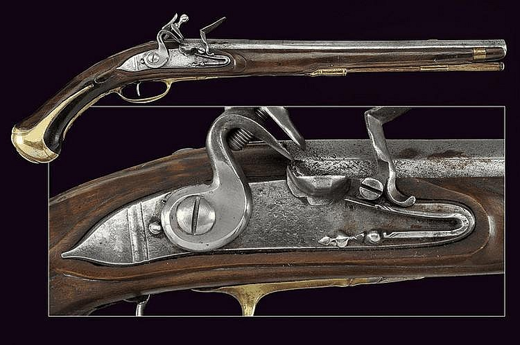 A long flintlock pistol