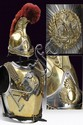 A Carabinier's cuirass and helmet