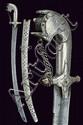 A silver mounted saif