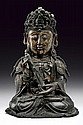 A bronze figure of Guanyin