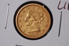 1852-O $2-1/2 Gold Liberty Quarter Eagle-VF