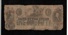 1851 Bank of the Union $1-1/2 Note -Fair