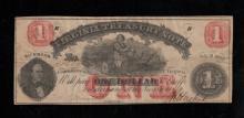 1862 Virginia $1 Treasury Note - F