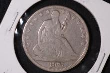 1877 Seated Liberty Half Dollar - VG