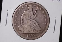 1877 Seated Liberty Half Dollar- VG