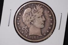 1907-O Barber Half Dollar- VF