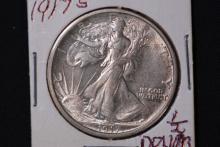 1917-S Walking Liberty Half Dollar-AU