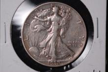 1938-D Walking Liberty Half Dollar- VF