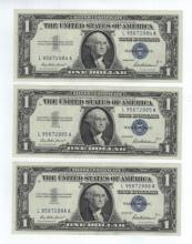 1957 $1 Silver Certificate Lot - (3) Notes