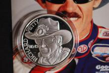 1992 Richard Petty 1ozt -.999 Fine Silver Round